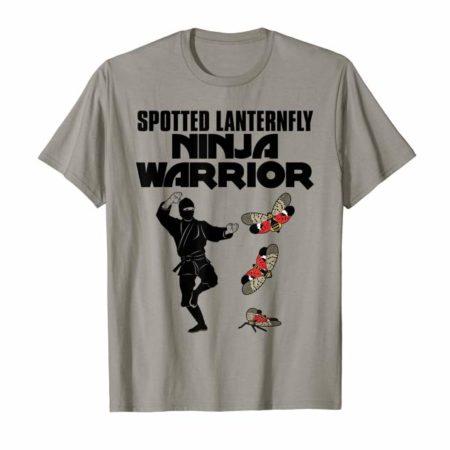 Spotted Lanternfly Ninja Warrior Slate Tee