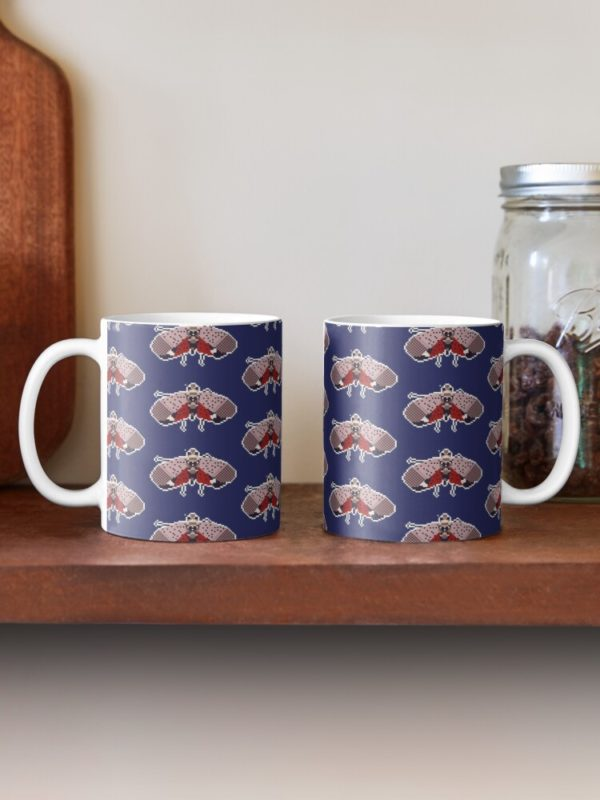 Pixel Spotted Lanternfly Pattern Mugs