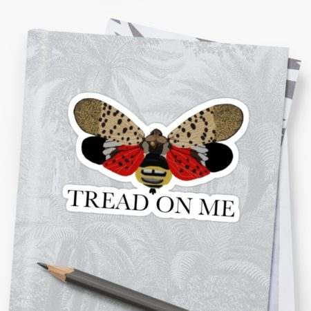 Spotted Lanternfly Tread on Me Sticker